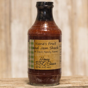 Glass bottle of Nana's Honey BBQ Sauce